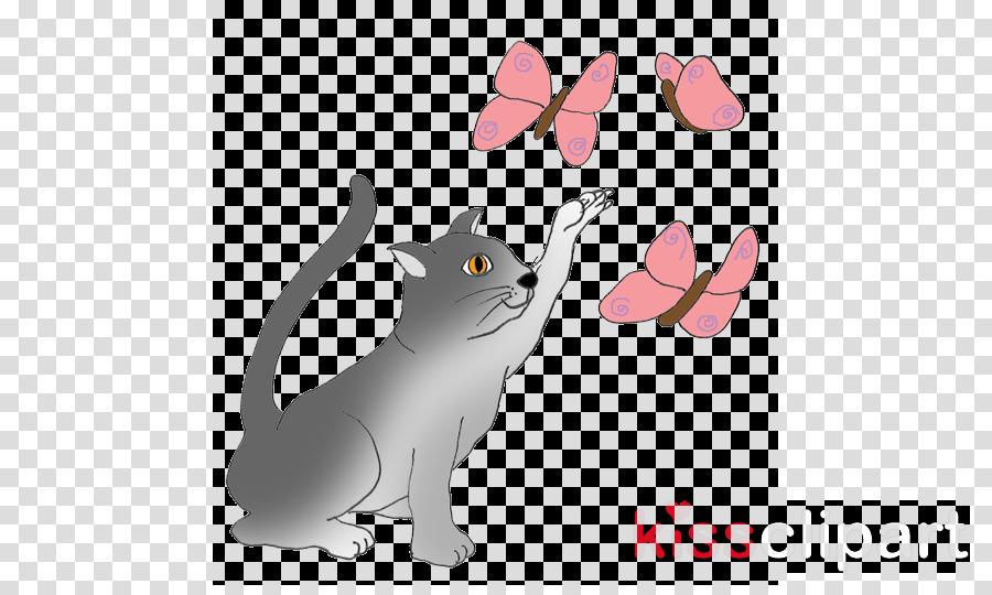 cat and butterfly clipart Kitten Bengal cat Clip art