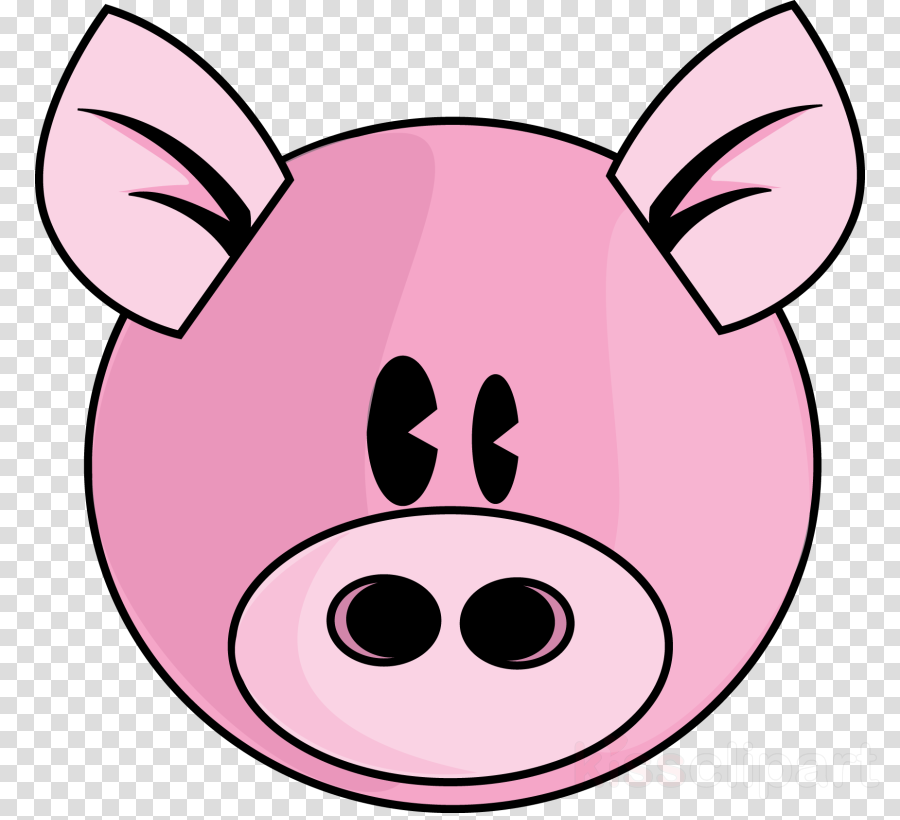 pink pig clipart Domestic pig Drawing Clip art