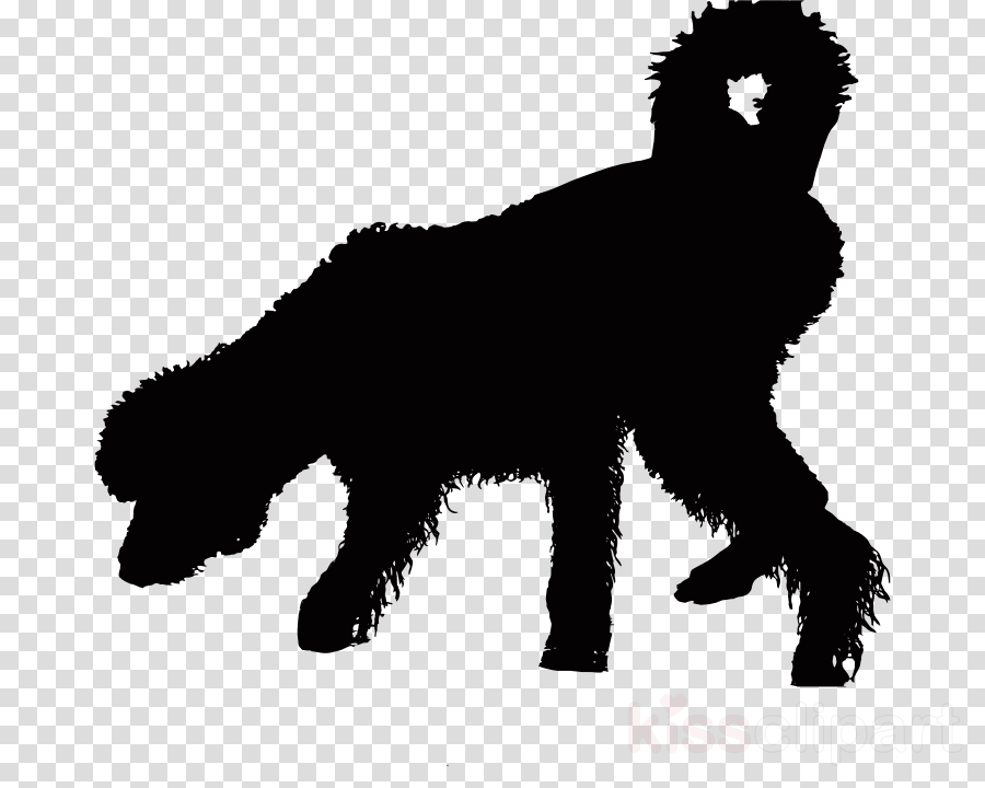 wet dog silhouette clipart Old English Sheepdog Clip art