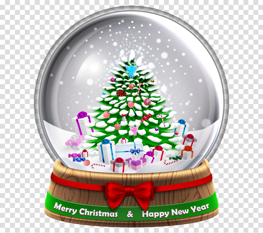 download snow globe transparent background clipart clip art christmas tree
