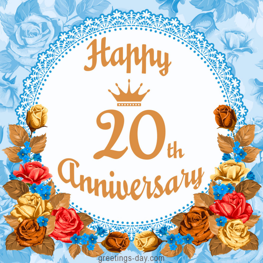 Download Happy 20th Wedding Anniversary Clipart Wedding Anniversary