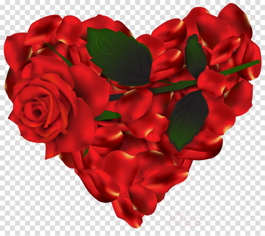 Rose Flower Heart Transparent Png Image Clipart Free Download
