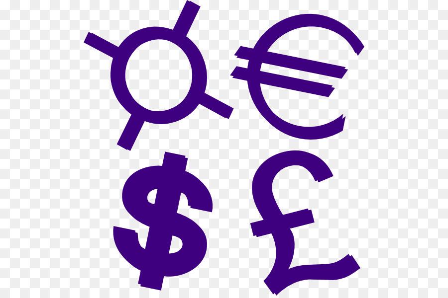 Dollar sign purple. Euro signtransparent png image