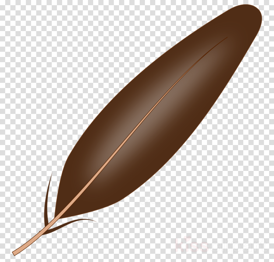 brown feather clipart Feather Clip art