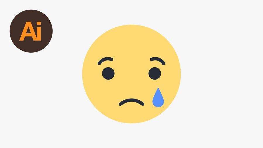Sad emoji facebook. Download clipart emoticon
