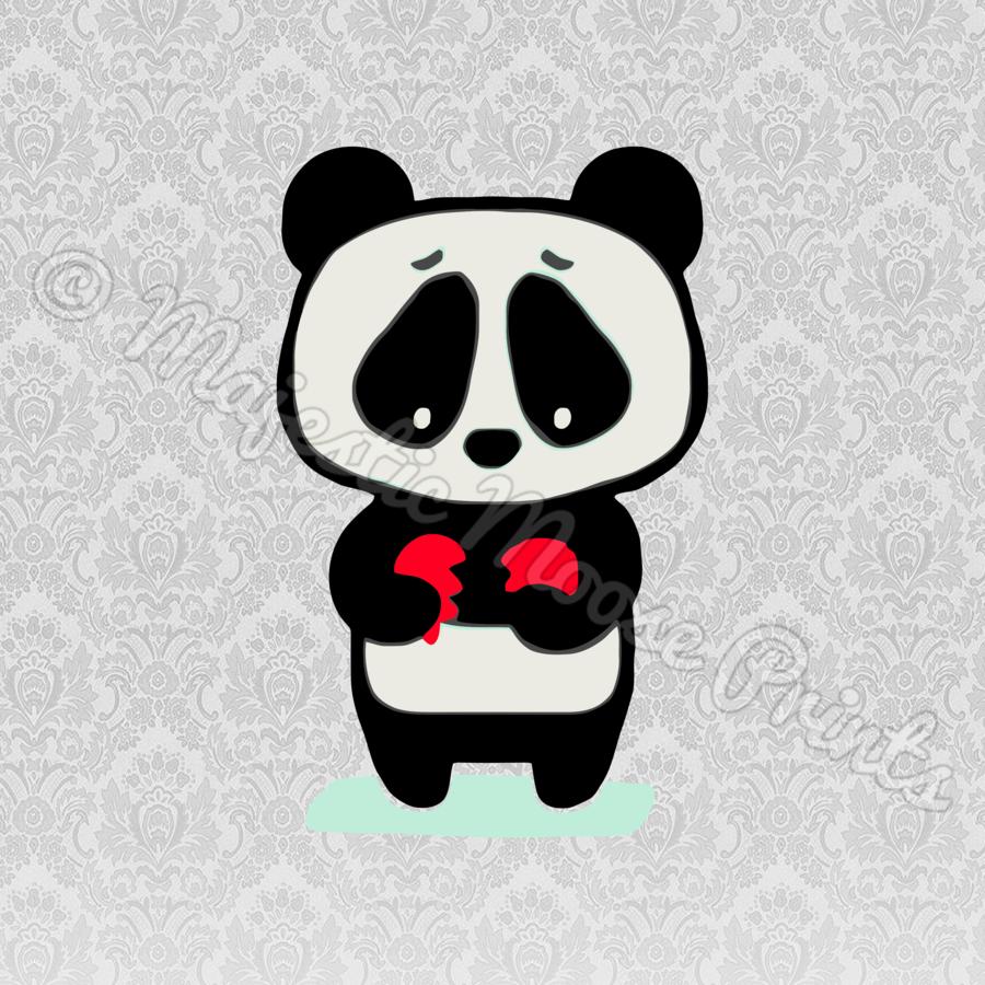 sad panda clipart Giant panda Bear Clip art