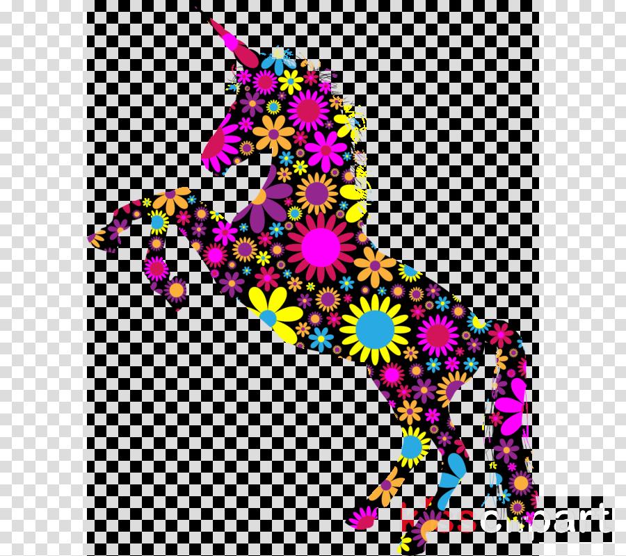 floral unicorn clipart Unicorn Clip art