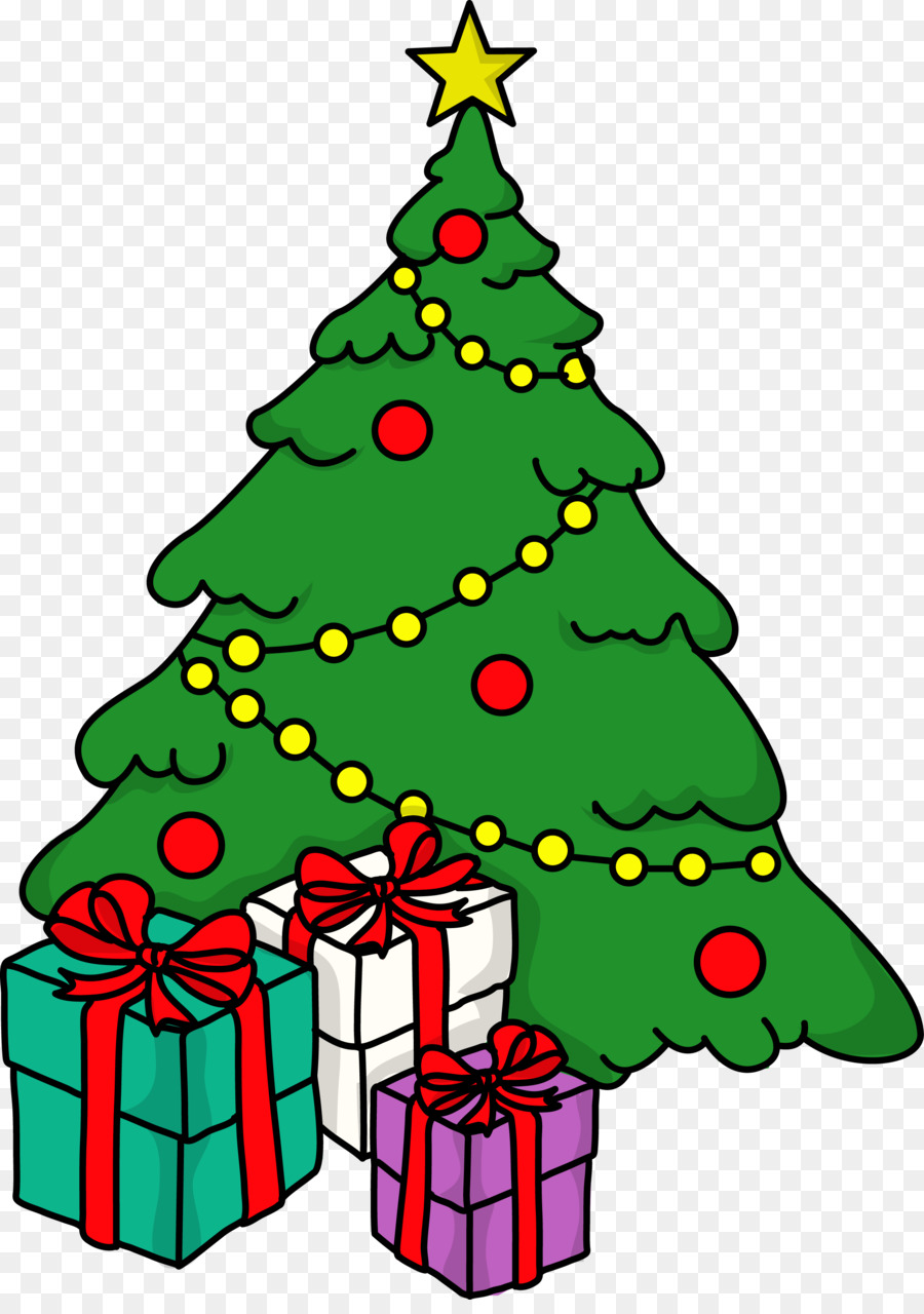 Christmas Celebration Images For Drawing.Christmas Gift Drawing Clipart Christmas Tree