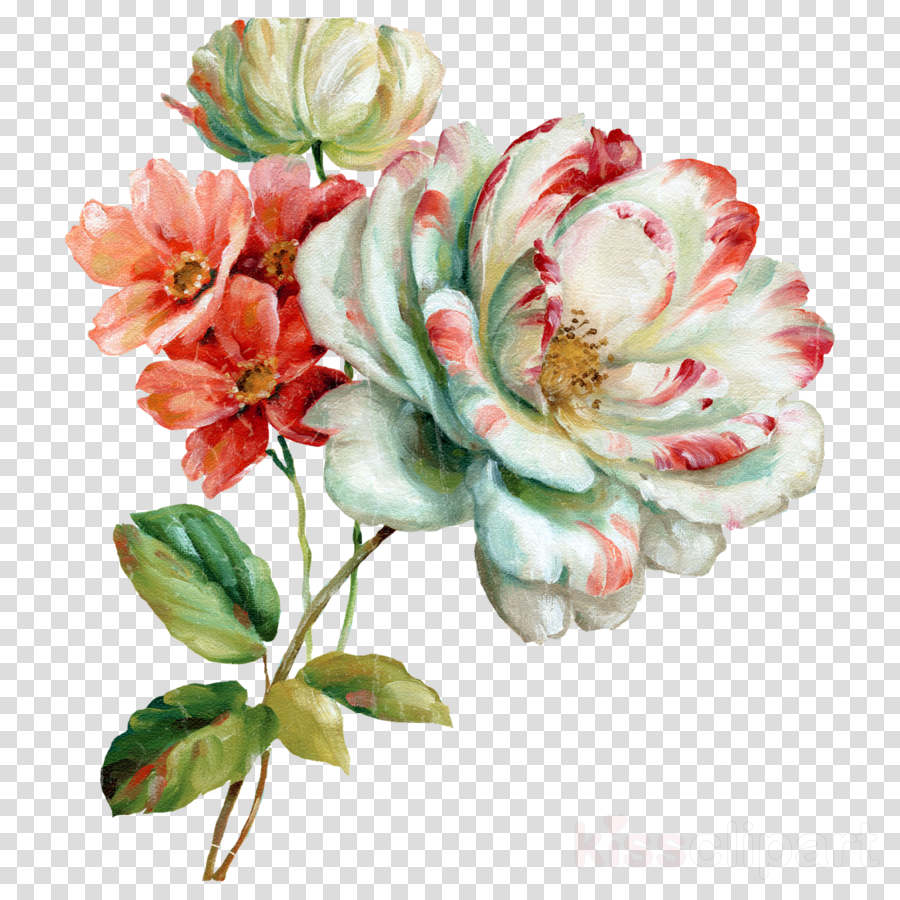 Flower Paint Rose Transparent Png Image Clipart Free Download