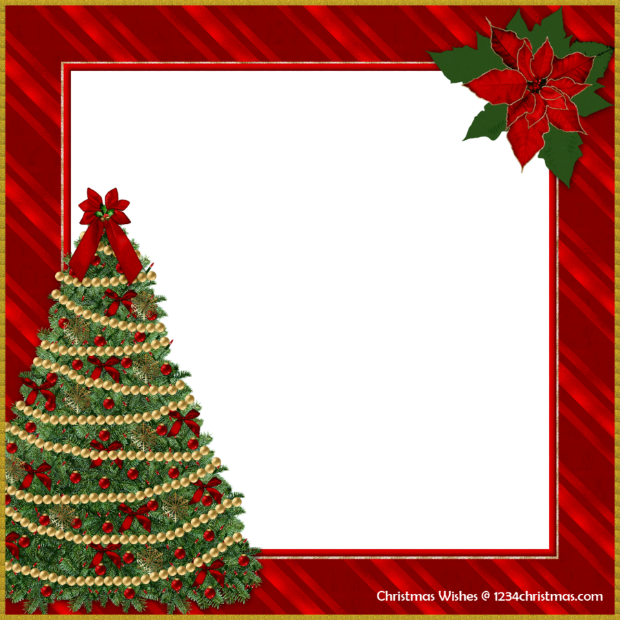Christmas Frame Clipart.Christmas Card Frame Clipart Christmas Tree Transparent