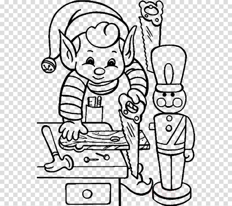 elf coloring sheets clipart Santa Claus Christmas elf The Elf on the Shelf