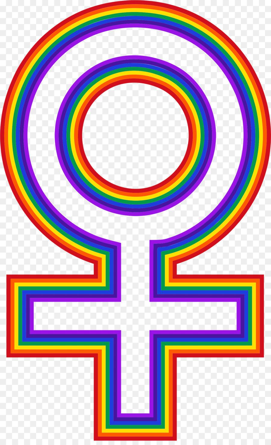 Download Rainbow Female Symbol Clipart Gender Symbol Female Clip Art