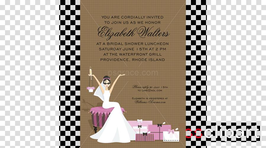 bridal shower invitations clipart Wedding invitation Bridal shower Bride