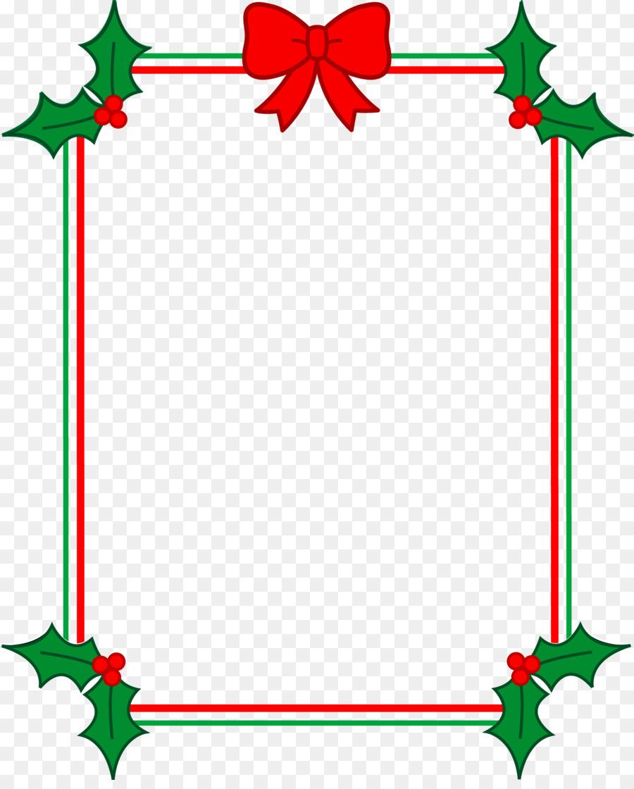 Christmas Border Design.Christmas Border Design Clipart Leaf Flower Tree