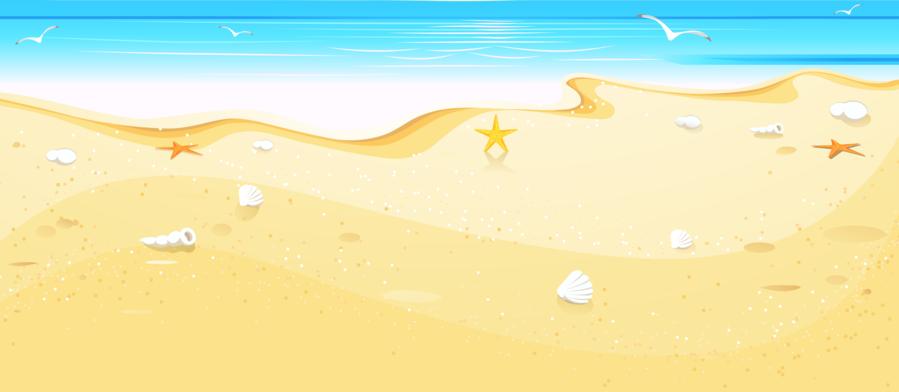 Beach sand. Cartoon clipart sky transparent