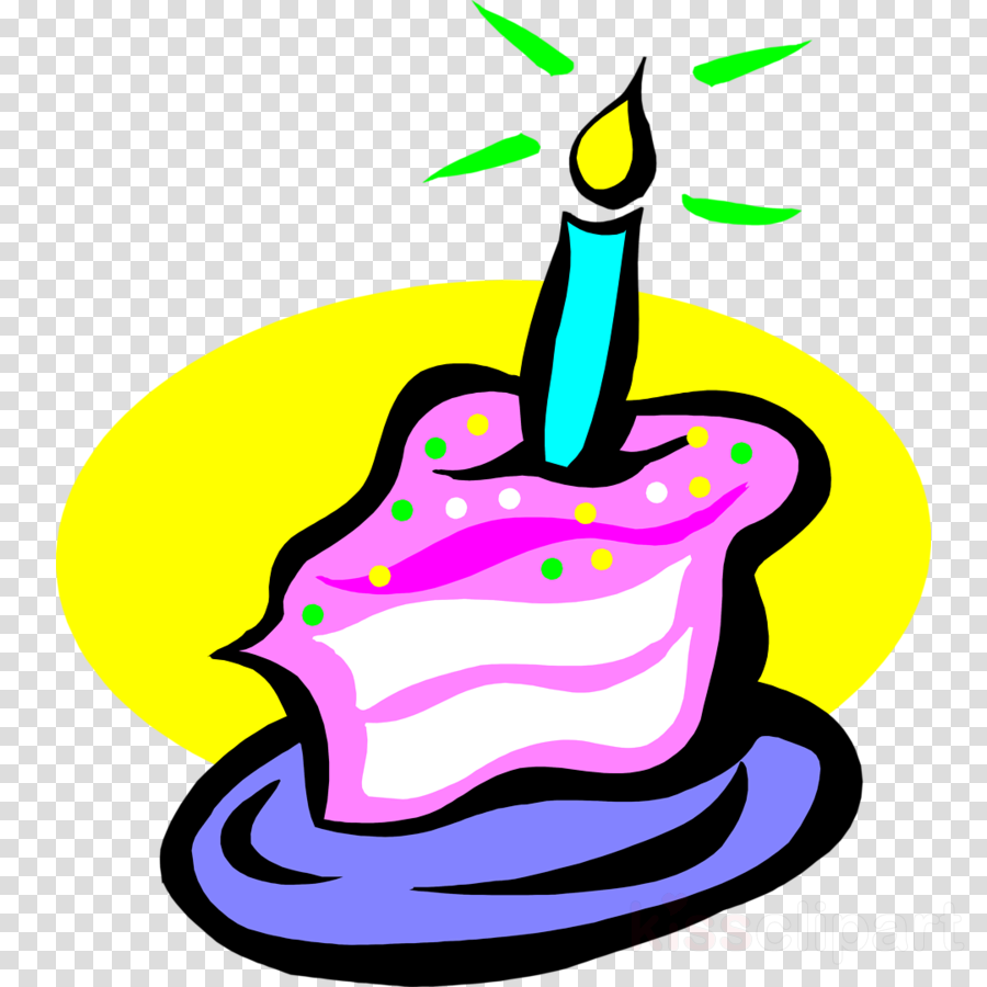 Slice Of Birthday Cake Clipart Candles Chocolate Clip Art