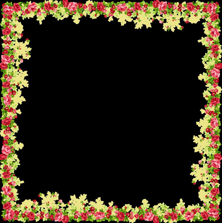 Flower Heart Border Transparent Png Image Clipart Free Download