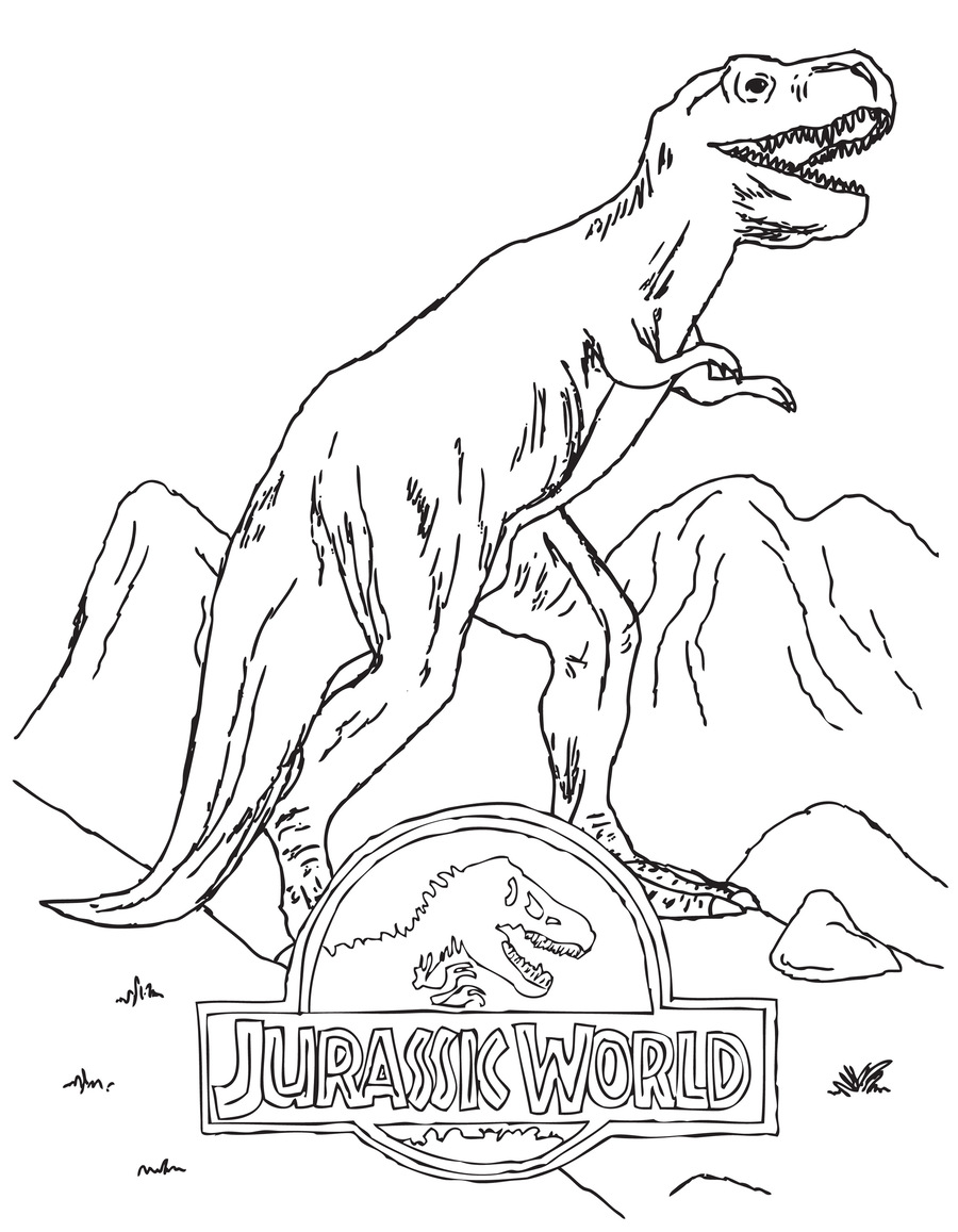 Download Jurassic World Coloring Pages Clipart Tyrannosaurus Lego