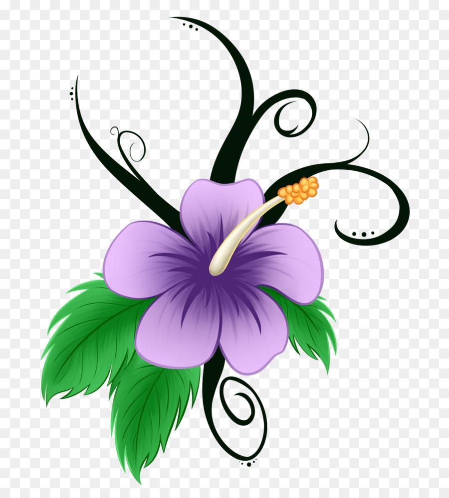 Download Cartoon Hawaiian Flowers Clipart Hawaii Drawing Clip Art
