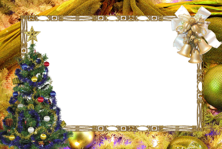 Christmas Clipart Transparent Background.Christmas Picture Frame Clipart Christmas Tree