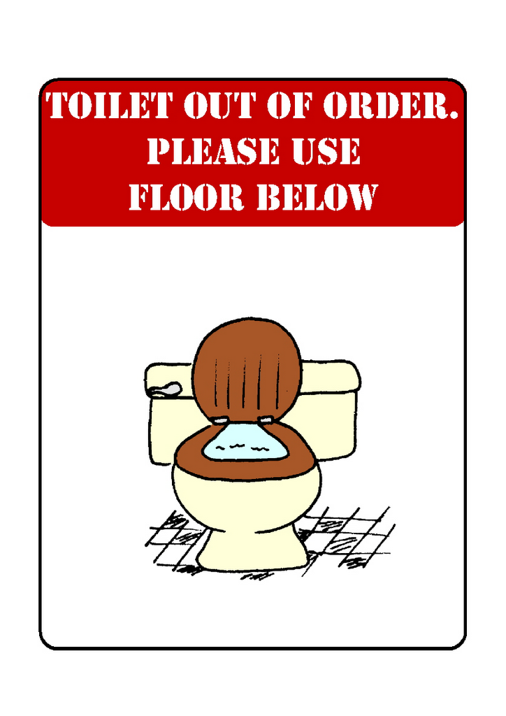 photo regarding Out of Order Sign Template named Bathroom Out Of Invest in Clipart