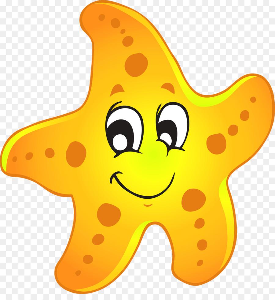 Starfish yellow. Star clipart transparent clip