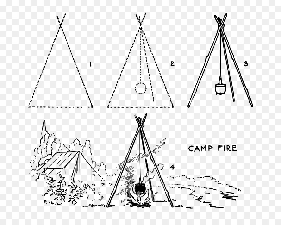 Campfire Camping Triangle Transparent Image Clipart Free