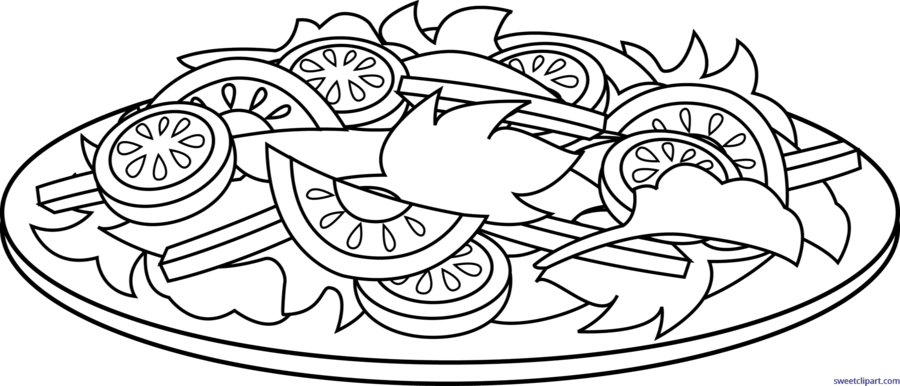 Download vegetable salad coloring pages clipart Chef salad Coloring ...