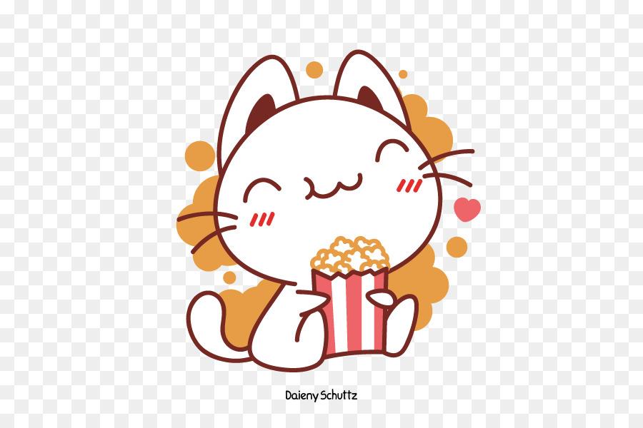 Popcorn kawaii. Flower circletransparent png image