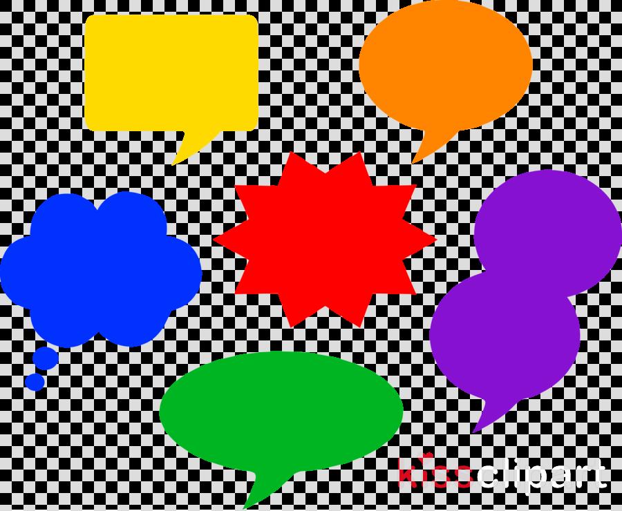 Colorful Speech Bubble Clip Art