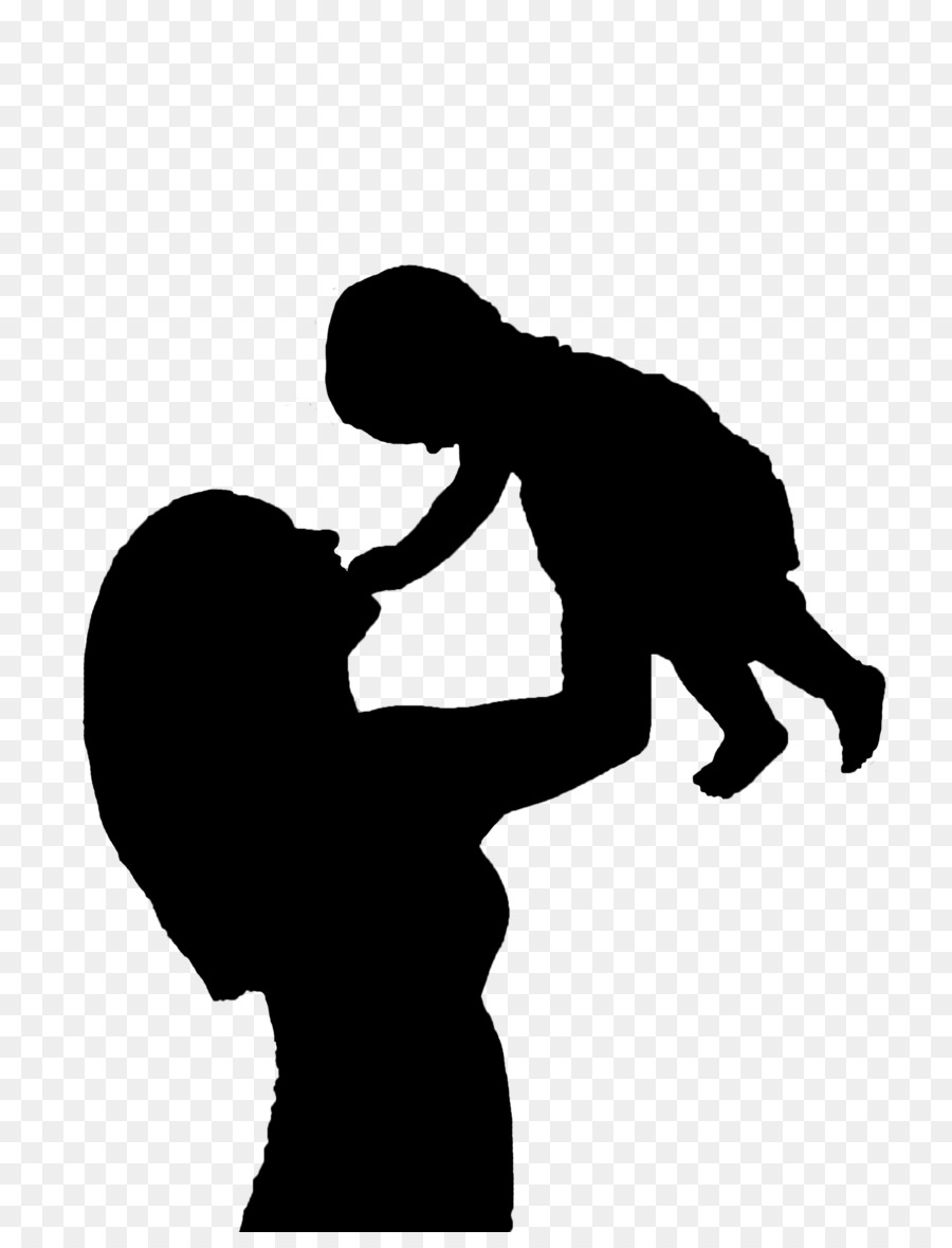 Love Black And White Clipart Child Mother Man Transparent Clip Art