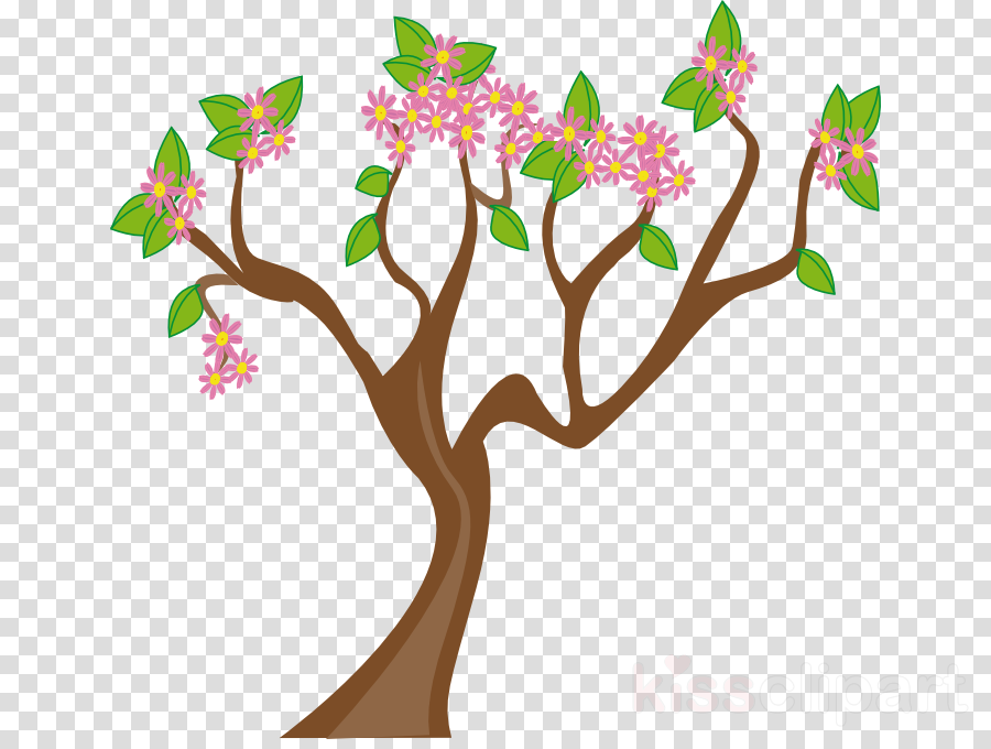 spring tree coloring clipart Tree Clip art