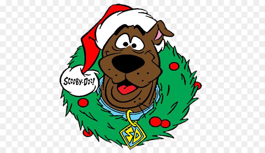 Scooby Doo Christmas.Christmas Tree Background Clipart Christmas Leaf Tree