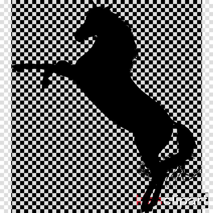 standing horse silhouette clipart Arabian horse American Quarter Horse Mustang