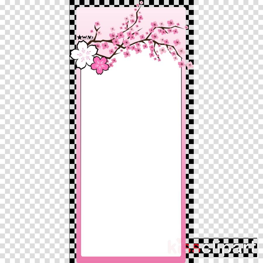 cherry blossoms frame png clipart International Cherry Blossom Festival