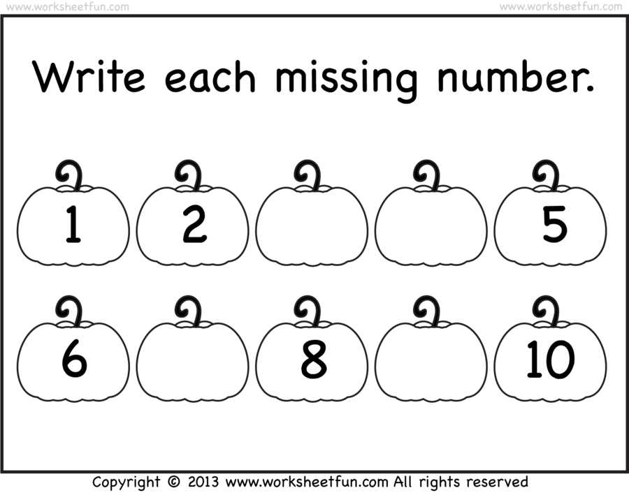 worksheets for numbers 1 to 10 clipart Paper Number Worksheet
