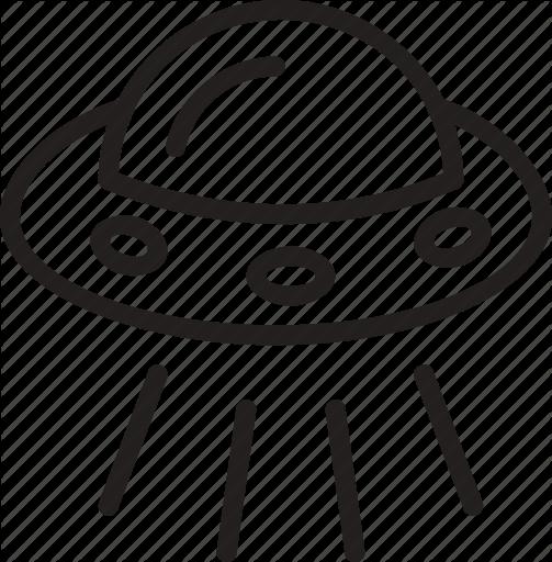 alien spacecraft clipart - 503×512