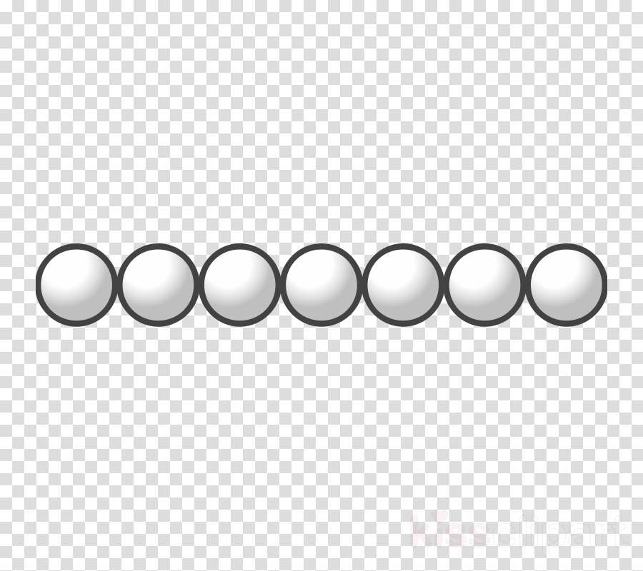 white beads clipart A string of beads Clip art