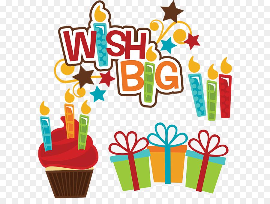 Happy Birthday Text clipart - Gift, Birthday, Food