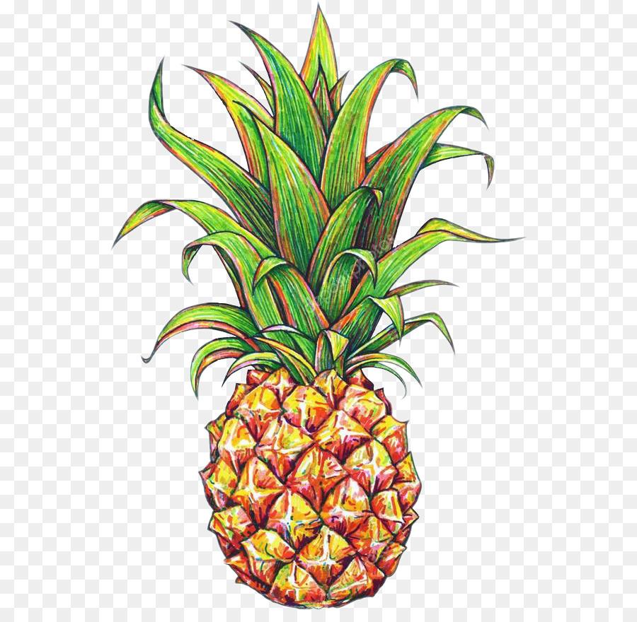 Ananas Rysunek pineapple cartoon clipart - pineapple, ananas, food