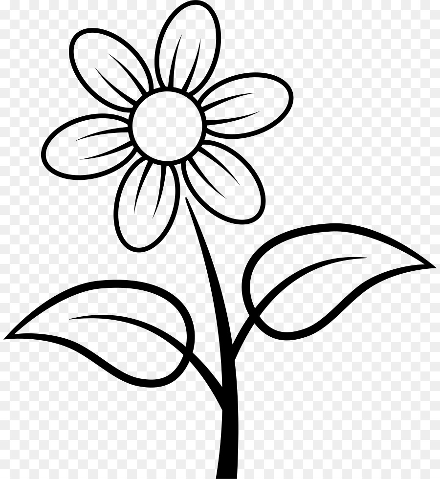 Download fleur coloriage clipart Coloring book | Flower,Leaf,Tree ...