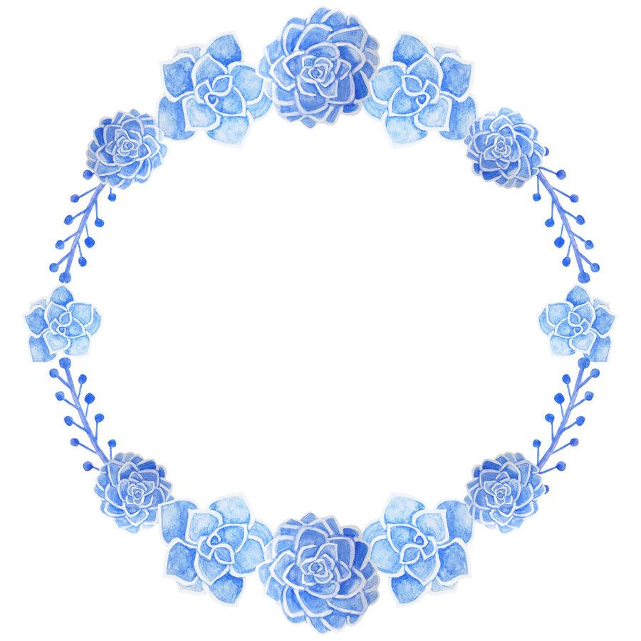 Download Blue Floral Wreath Clipart Wreath Floral Design Clip Art