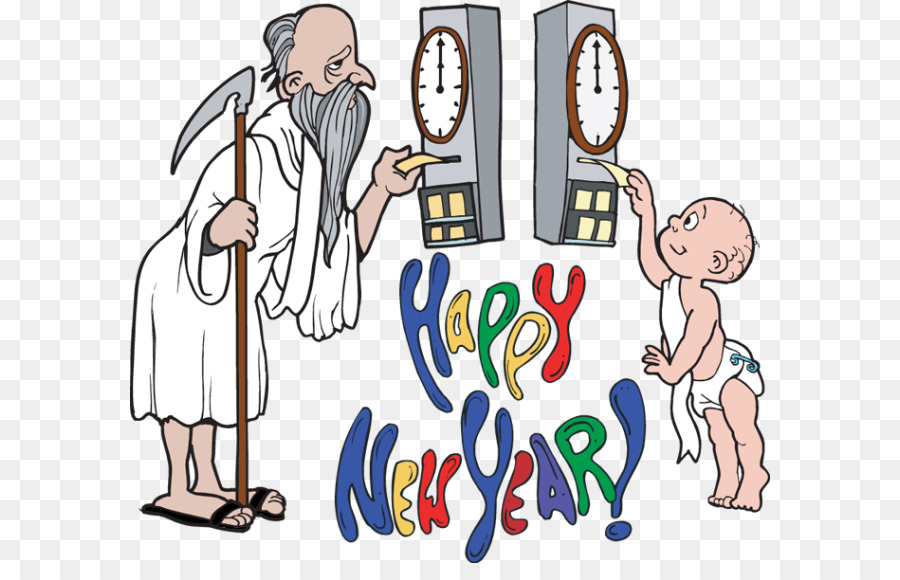 father time new year clipart Father Time Baby New Year