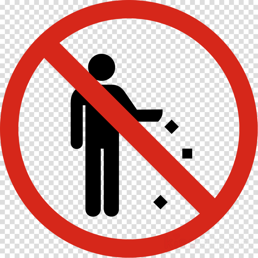 no littering sign png clipart Litter Sign