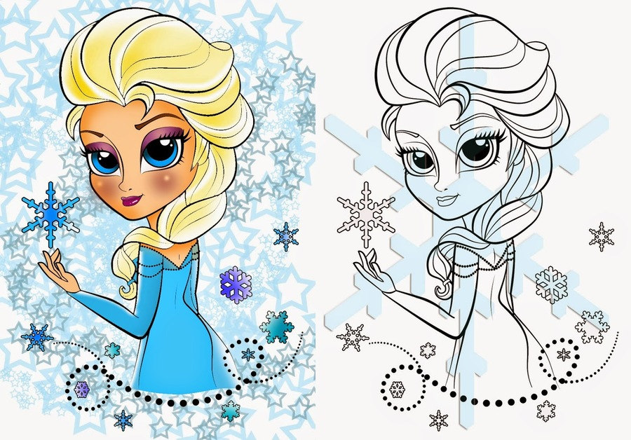 Baby Elsa Coloring Pages Clipart Anna Olaf
