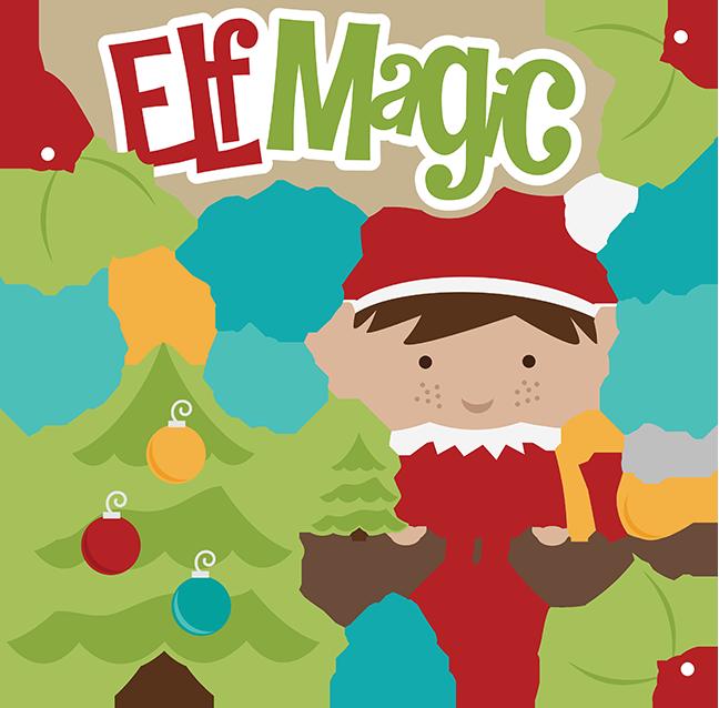 Christmas Elf On The Shelf Clipart.Christmas Elf Cartoon Clipart Christmas Tree Leaf