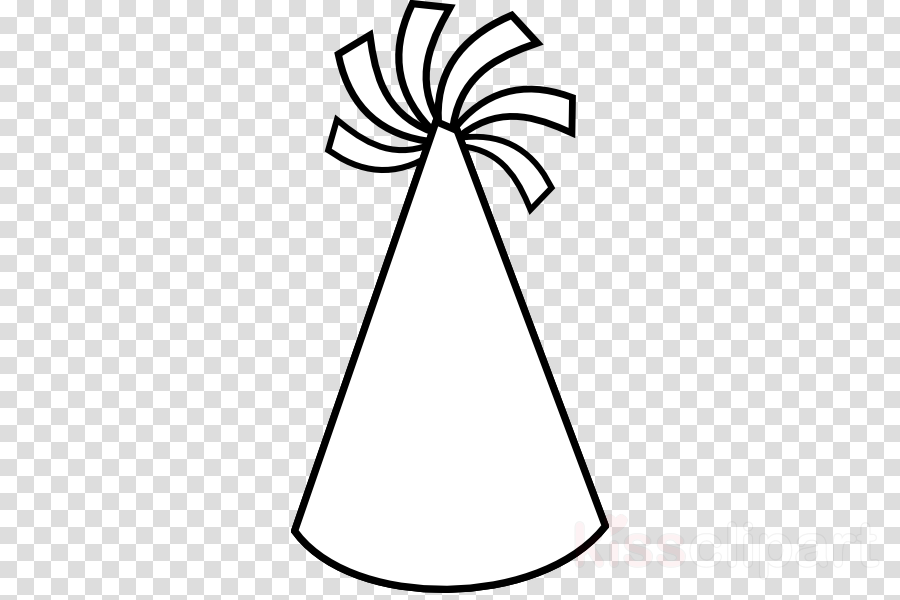 Party Hat Coloring Page Clipart Birthday