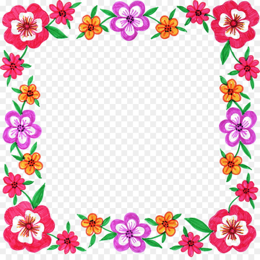 Flower Square Design Art