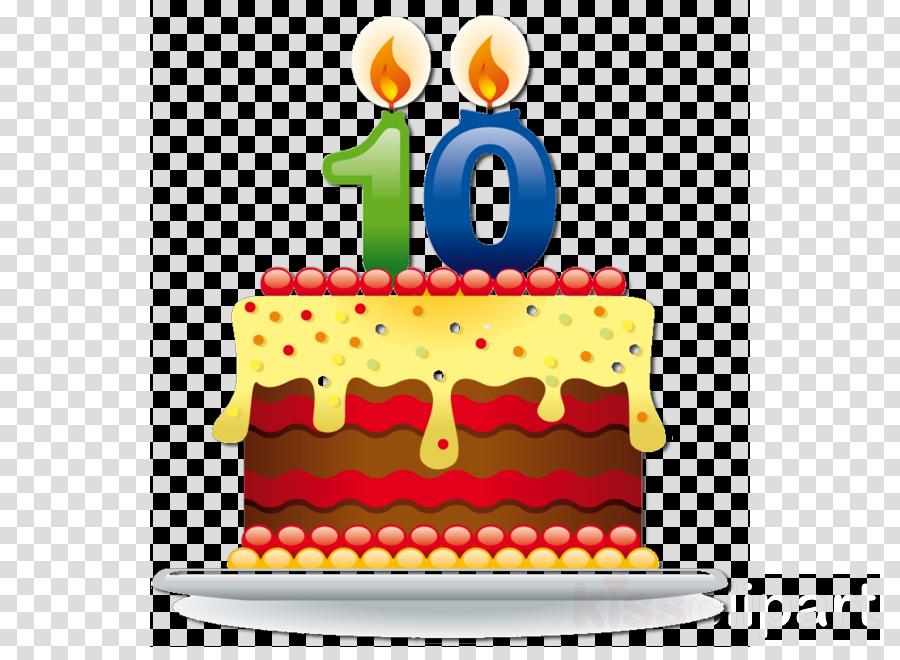 10 Years Birthday Cake Clipart Clip Art