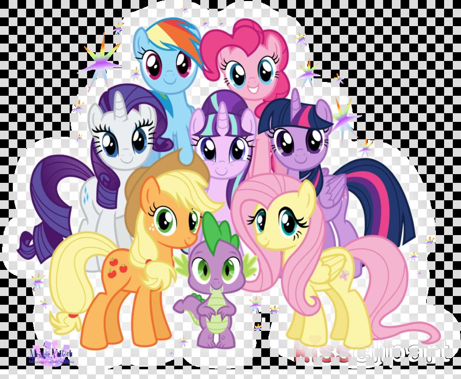 mane 7 mlp clipart Pinkie Pie Spike Pony